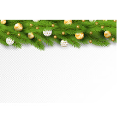 Detailed seamless christmas garland realistic vector