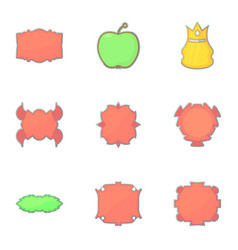 different vintage sticker for store icons set vector image