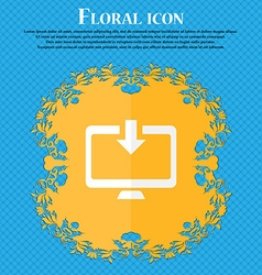 Download Load Backup Floral flat design on a blue vector