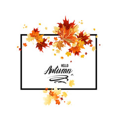 Fall laeves design vector