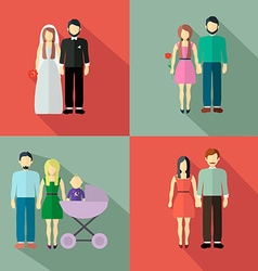 Family figure collection vector image