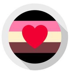 Fat fetish pride flag round shape icon on white vector