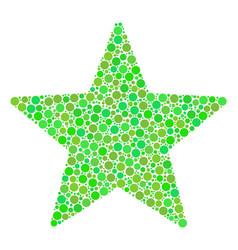 Fireworks star mosaic of circles vector