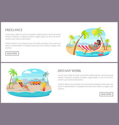 Freelance distant work pages vector