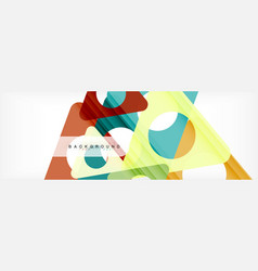 geometric background circles and triangles shapes vector image