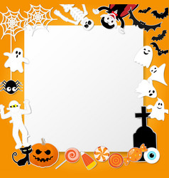Happy halloween characters in cartoon style with vector