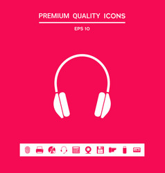 headphones icon symbol graphic elements for your vector image