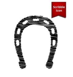 Horseshoe black icon vector image