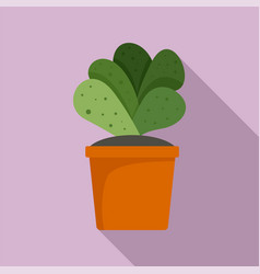 house cacti pot icon flat style vector image