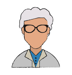 isolated grandmother design vector image