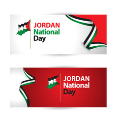 Jordan national day template design vector