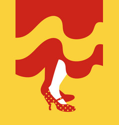 Legs of flamenco dancer and dress with the colors vector