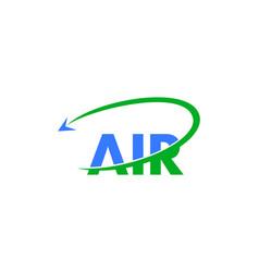 letter air travel logo design template vector image