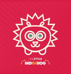 Line style hedgehog vector