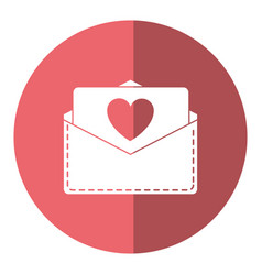 love heart envelope mail valentine letter shado vector image