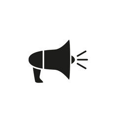 megaphone black icon vector image