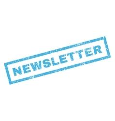 Newsletter Rubber Stamp vector