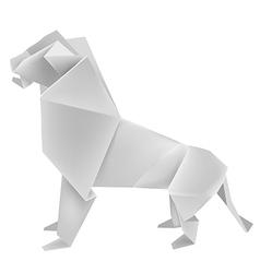 Origami lion vector