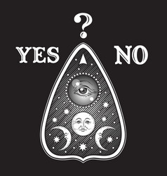 ouija board mystifying oracle planchette vector image