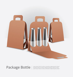 Packaging for bottles isolated vector