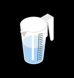 pitcher with water isolated isometry drinking on vector image