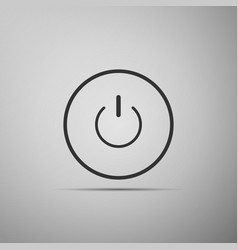 Power button icon on grey background start sign vector