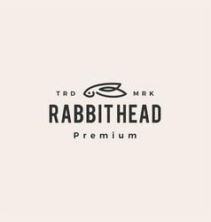 rabbit head hipster vintage logo icon vector image