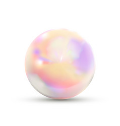 Realistic glossy marble ball in holographic vector