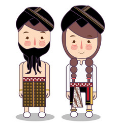 reog ponorogo dancer costume fashion clothing vector image