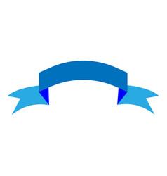 Ribbon blue sign 1603 vector