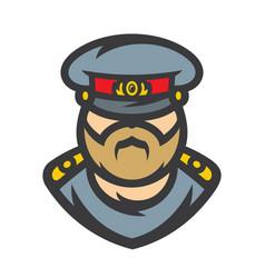 Russian policeman officer vector