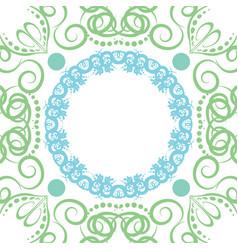 seamless abstract floral patternmandala vector image