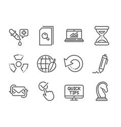 set education icons such as recovery data vector image