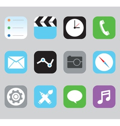 Set of icons for design vector image