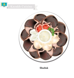 Shuzhuk or Kazakh Spicy Horse Meat Sausage vector