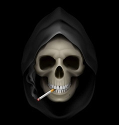 Smoking kills Skull death 01 vector