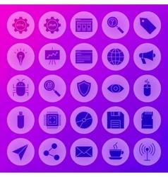 Solid Circle Web Computer Icons vector image