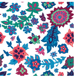 spring or summer floral blossom seamless pattern vector image