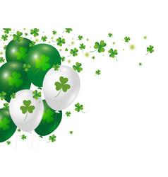 st patricks day background design of clover vector image