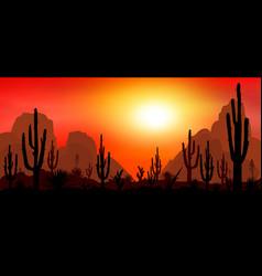 Stony desert with cacti 1 vector
