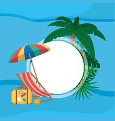 summer blank frame vector image