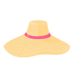 Summer hat icon cartoon style vector
