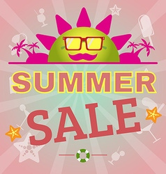 Summer Sale Promotion Flyer vector image