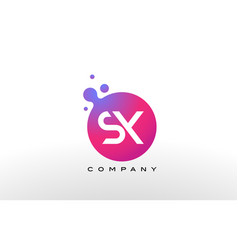 sx letter dots logo design with creative trendy vector image