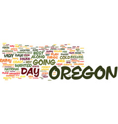 The beauty of oregon text background word cloud vector