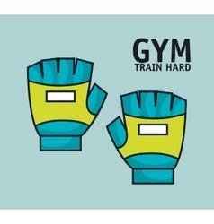 training hard gloves gym design vector image