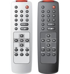 TV remote controls vector image