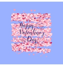 Valentines Day greeting on red hearts background vector