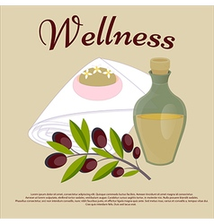Wellness Beauty salon concept Olive oil soap face vector