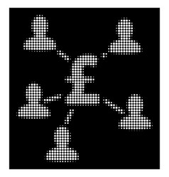 White halftone pound payment clients icon vector